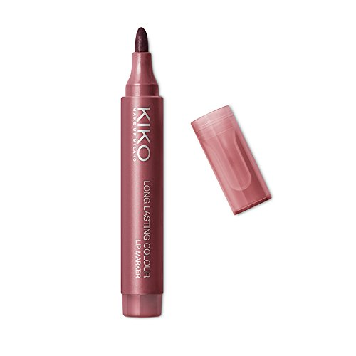 KIKO Milano Long Lasting Colour Lip Marker 107   Pennarello Labbra No-Transfer, Effetto Tattoo Naturale a Lunga Durata (fino a 10 Ore)