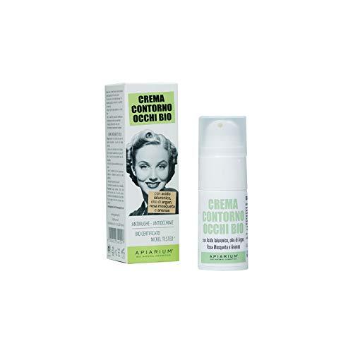 Apiarium Bio Natural Cosmetics Crema Contorno Occhi Biologico, 15 ml