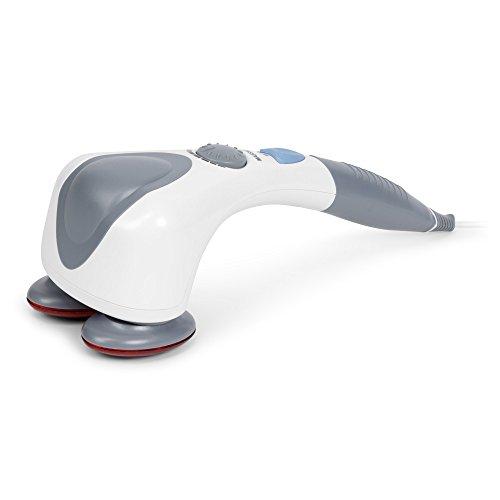 EGO PLUS® Massaggiatore di vibrazione e infrarossi (modello 2020) - Vibromassaggiatore elettrico portatile - Massaggio shiatsu, anticellulite, percussione - 2 Anni Garanzia
