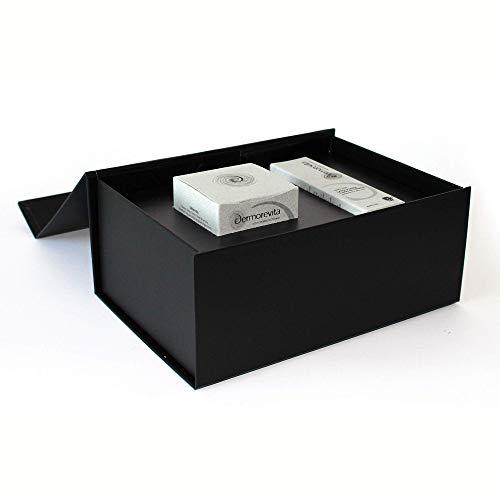 Dermorevita luxury box - Meraviglia - Crema viso 50 ml e contorno occhi e labbra 15 ml a base di latte d'asina e bava di lumaca CERTIFICATA BIO ECO COSMESI AIAB