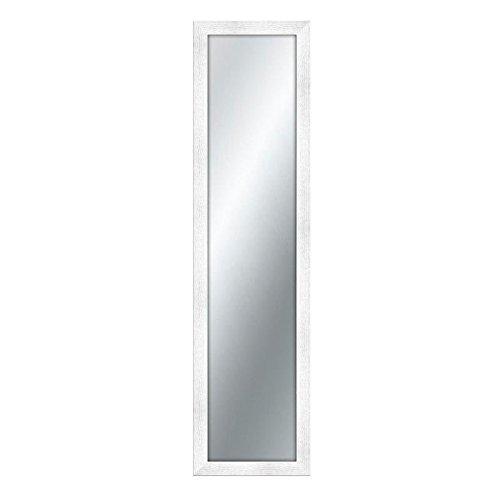 Lupia Specchiera da Parete con Cornice in Legno Shabby Boston 40x160 cm/White