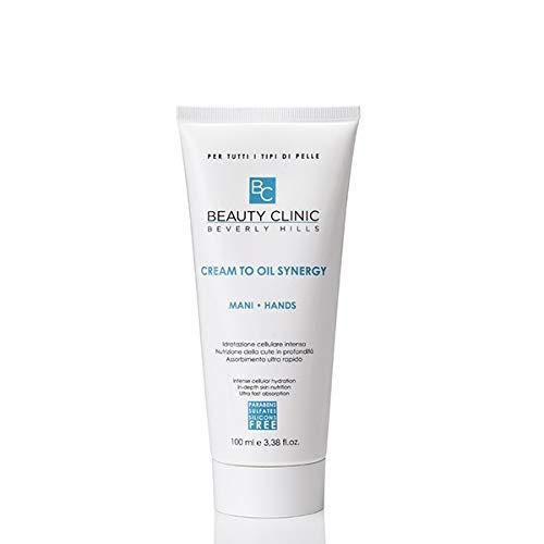 Beauty Clinic - Cream To Oil Synergy Mani - Crema Mani Riparatrice - Ideale per Mani Screpolate e Secche in Inverno - 100 ml