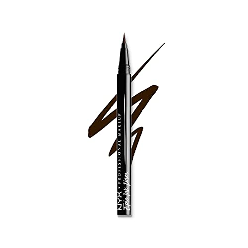 NYX Professional Makeup Epic Ink Liner, penellino pigmentato e waterproof, Marrone
