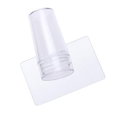 Beaupretty Stampini per Unghie in Silicone Trasparente Nail Art Stamper Raschietto Stampaggio Unghie con Cappuccio per Strumento di Stampa Manicure Fai da Te (Trasparente)
