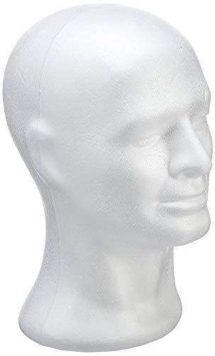 Rayher 3396600 Testa per Manichino Uomo, polistirolo, Altezza 30.5 cm, per Parrucche, Accessori e Cucito