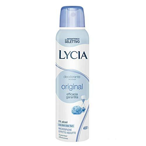 Set 6 LYCIA Deodorante Antiodorante Spray 150 Original Cura E Igiene Del Corpo