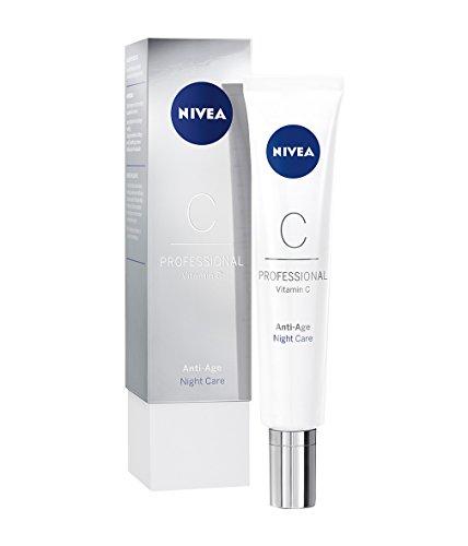 NIVEA PROFESSIONAL Vitamin C crema notte per il viso, crema viso anti rughe idratante e tonificante con vitamina C, effetto lifting e rivitalizzante sulla pelle del viso, 1 x 50 ml