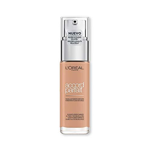 L'Oréal Paris MakeUp Fondotinta Accord Parfait, Effetto Naturale, Arricchito con Acido Ialuronico, 5.R/5.C Sable Rosé/Rose Sand, 30 ml, Confezione da 1