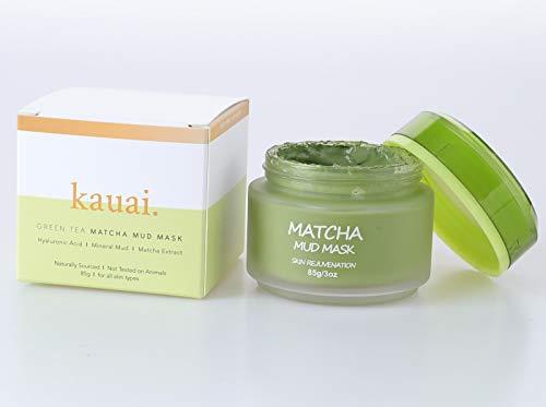 Kauai cosmetici tè verde Matcha Face Mask, maschera di fango naturale per Ringiovanire pelle con effetti anti-invecchiamento, pelle detergente per acne
