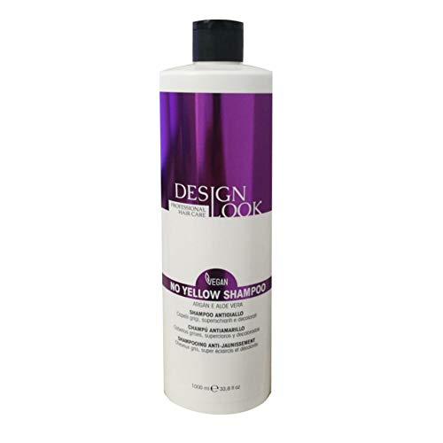 Design Look - Shampoo No Yellow Antigiallo VEGAN - Argan & Aloe Vera - 1000 ml