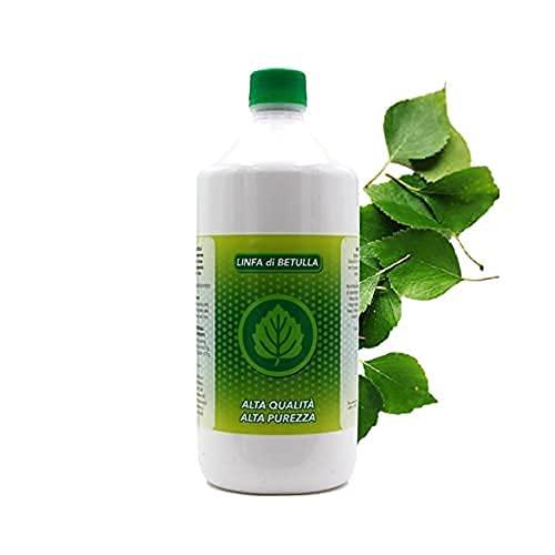 MUV Drenante Forte Dimagrante Linfa di Betulla Pura 1Litro, Prodotto Naturale Anticellulite e Detox - Made in Italy