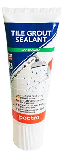 Rinnovatore di fughe per piastrelle speciale PER LA DOCCIA Pectro 400g | Niente più crepe nei giunti della doccia | Giunti bianchi senza muffa