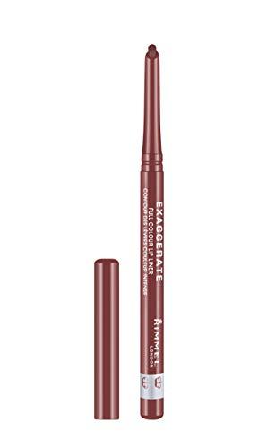 Rimmel London Matita Labbra Automatica Exaggerate, Lunga Durata, Tratto Preciso e Colore Intenso, 018 Addiction, 0.25 g