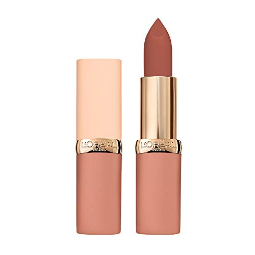 L'Oréal Paris Rossetto Lunga Durata Color Riche Free the Nudes, Non Secca le Labbra, Comfort a Lungo sulle Labbra, 07 No Shame, Confezione da 1