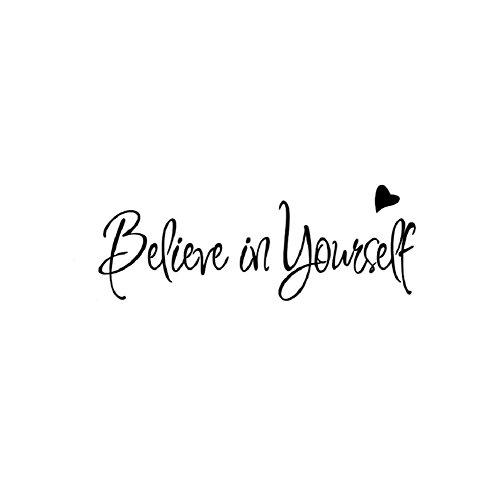 iTemer. Adesivi da Muro Serie, 1x Believe in Yourself Wall Sticker Size 20×56cm