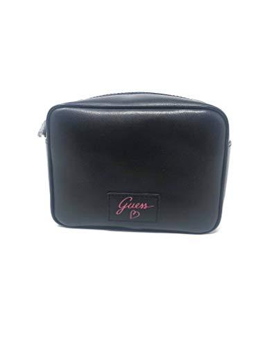Guess - Beauty case porta trucchi donna pelle colore nero