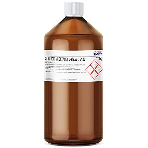 AIESI® Glicerina Vegetale F.U. pura grado FARMACEUTICO flacone da 1 kg # Glicerolo puro liquido # Made in Italy