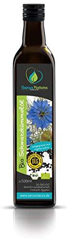 Olio di Cumino Nero Biologico Egiziano 500 ml - Nigella Sativa - Pressato a freddo - Puro Naturale - Bottiglia di vetro