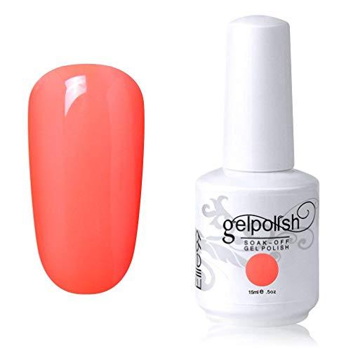 Elite99 Smalto Semipermente per Unghie in Gel UV LED Smalti per Unghie Soak Off per Manicure Corallo 15ML - 1618