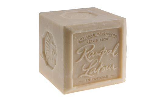 Rampal Latour S600BF - Sapone di Marsiglia bianco 72% Cubo extra morbido per la pelle, 600 g