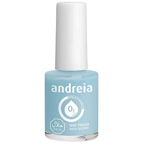 Andreia Smalto per Unghie Traspirante Halal - Permeabile all'Acqua - B3 Blu - Sfumature di Verde   10 ml