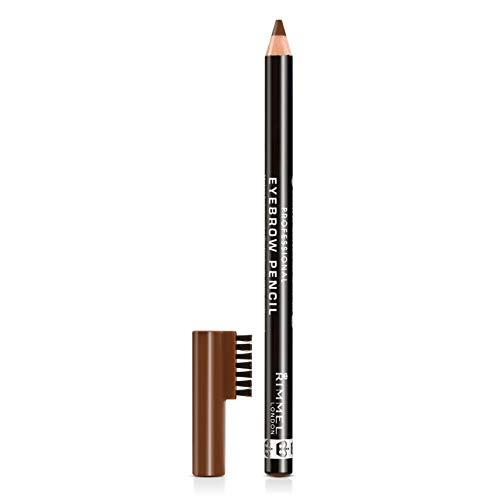 Rimmel London Matita Sopracciglia Professional Eyebrow Pencil, Formula a Lunga Durata, Pettinino Incorporato, 002 Hazel, 1.4 g