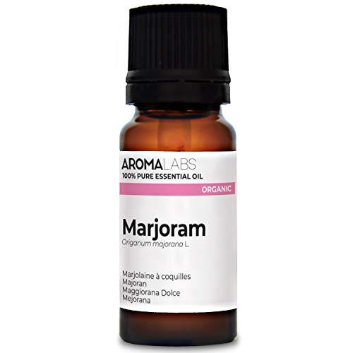 Aroma Labs Maggiorana Dolce Bio - 10Ml - Olio Essenziale Bio E Naturale Al 100% - Qualità Verificata Mediante Cromatografia - Aroma Labs - 10 ml