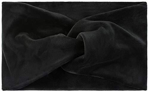 styleBREAKER Fascia per Capelli da Donna in Look di Velluto con Nodo e Fascia Elastica Fascia per la Testa 04026040, Colore:Nero