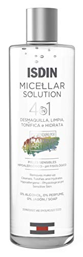ISDIN Micelar Solution 4 in 1 Acqua Micellare | Deterge, Strucca, Tonifica e Idrata 1 x 400ml