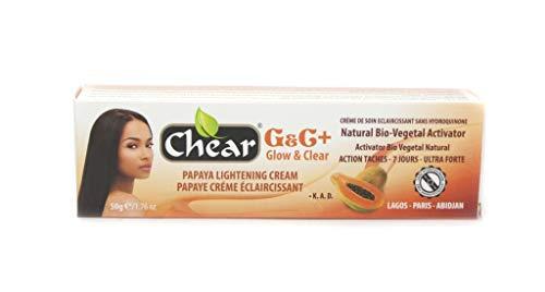G&C+, crema per il viso alla papaya, illuminante, schiarente, sbiancante, in tubetto da 50g, per pelli scure