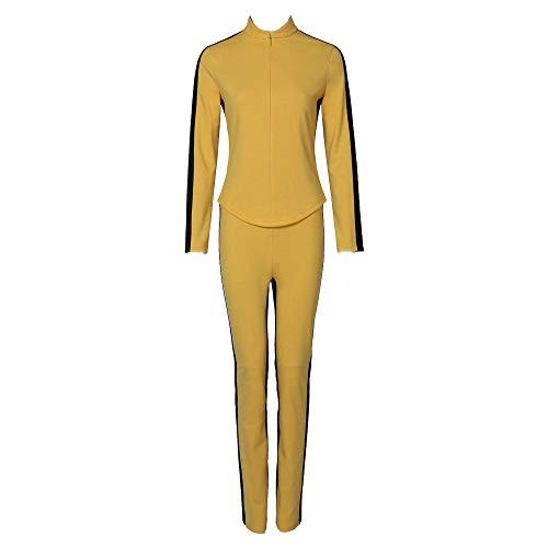 Aiqing Felpa da Donna Kill Bill Costume Beatrix Kiddo Top e Pantaloni