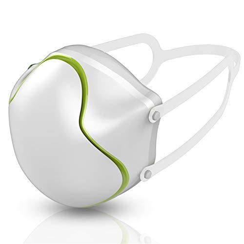 MXXQQ Purificatore Elettrico, USB Ricaricabile Anti Inquinamento, Antipolvere Respirazione Respiratore Purificante Anti-Fog Anti-Saliva Hood, per Bambini Adulti