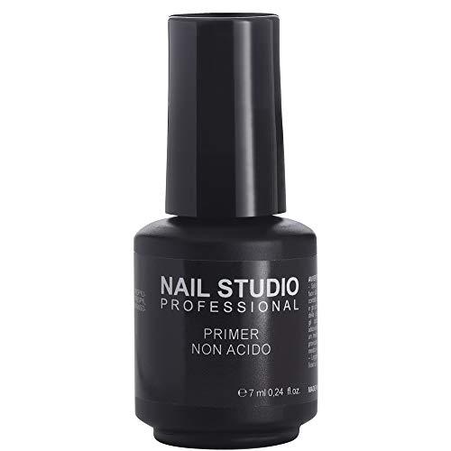 Nail Studio - Primer Non Acido - Primer Unghie Semipermanente - Migliora l'Adesione tra Unghia e Gel per Applicazione Smalto Semipermanente, Non Brucia Unghie e Cuticole - 7 ml