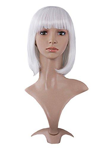 MapofBeauty 30cm/ 12 Pollice Corto Lisci Donna Lisci Parrucche (Bianco)
