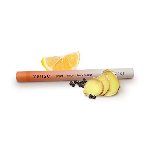 Zense Zest - Diffusore portatile di oli essenziali - Aromaterapia naturale con Limone, Zenzero e Pepe nero - Aromaterapia biologica al 100%