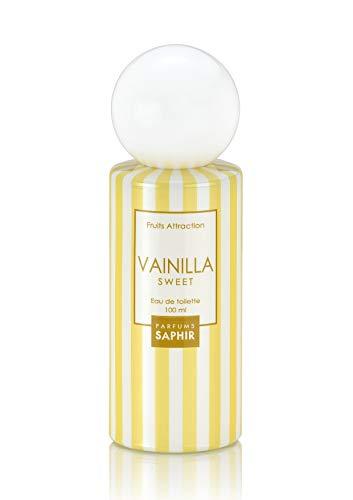 PARFUMS SAPHIR Fruits Attraction Vainilla Sweet - Eau De Parfum Con Vaporizzatore Da Donna, color Vaniglia, 100 ml