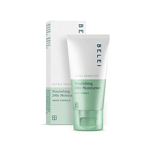 Marchio Amazon - Belei, Crema idratante 24h, nutriente, per pelle ultra sensibile, 50 ml