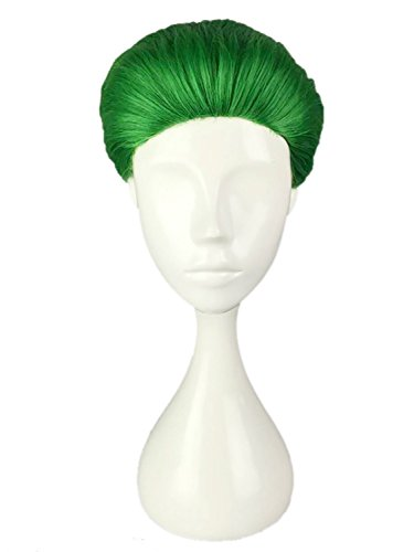 CLOCOLOR Joker Parrucche Da Uomo Capelli Sintetici Naturale Sintetico Parrucca Veri Resistente al Calore per Cosplay Club Halloween Verde