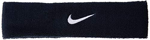 Nike Swoosh Head Bands Fascia, Unisex, Swoosh Headbands, Ossidiana/Bianco, Taglia Unica