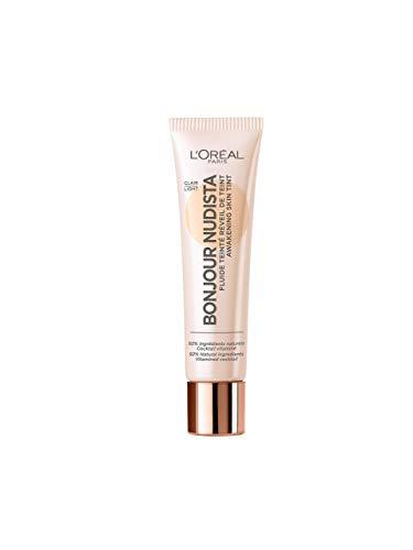 L'Oréal Paris BB Cream, Bonjour Nudista, Finish Nudo Radioso, Pelle Idratata, non Appesantita, 01 Light
