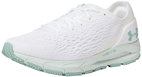 Under Armour HOVR Sonic 3, Scarpe per Jogging su Strada Donna, Bianco Sea Glass Smalto Blu 103, 36 EU