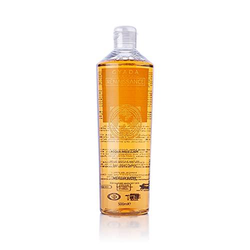 Gyada Cosmetics ACQUA MICELLARE ANTIAGE ● MAXI FORMATO 500 ml ● CERTIFICATA BIO ● MADE IN ITALY