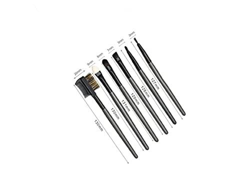 Kit Pennelli per trucco occhi - Make Up Kit Occhi - 5 Pennelli per ombretto più un pettine. pennelli professionali per il make up fondotinta, ombretto, eyeliner, labbra.