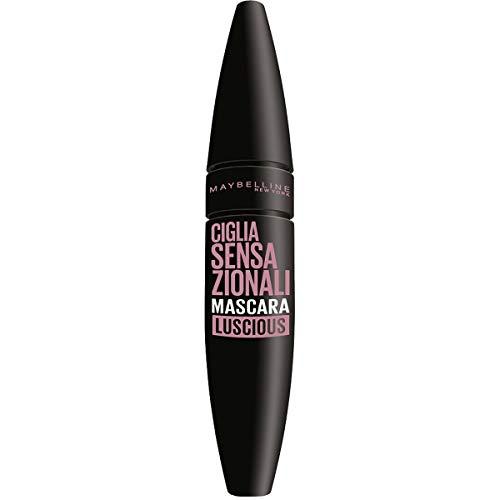 Maybelline New York Mascara Ciglia Sensazionali, Volumizzante, Effetto Ventaglio sulle Ciglia, Luscious, Confezione da 1