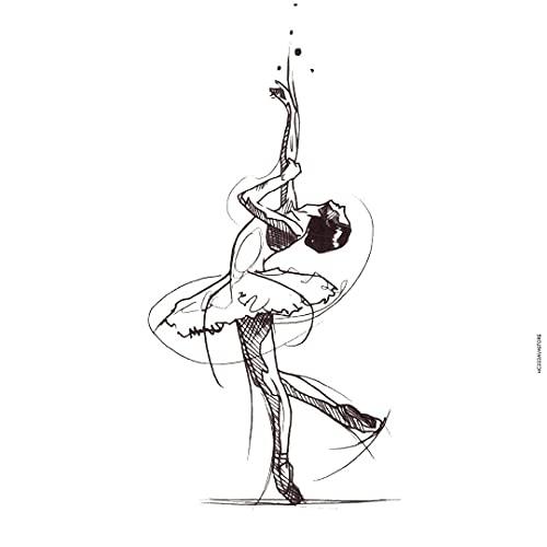 AVASTORE - Tatuaggio temporaneo da donna, motivo: ballerina