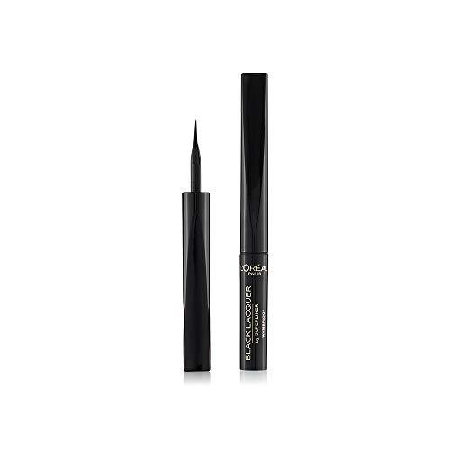 L'Oréal Paris Make Up Eyeliner in Penna Superliner Lacquer, Lunga Tenuta, Tratto Preciso con Applicatore in Feltro, Nero, Confezione da 1