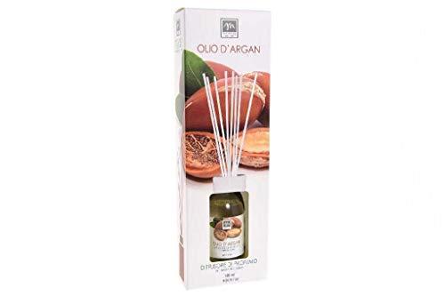 GIRM® - ME16439 Diffusore d'Essenza con Bastoncini in Cotone Aroma Olio d'argan ml 125