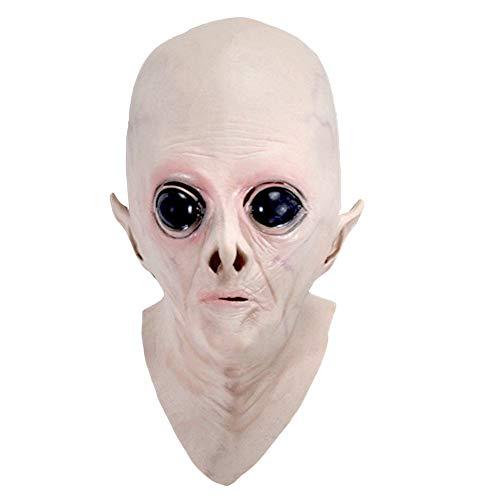 ASOSMOS Halloween Creepy Vinile UFO Alien Head Mask Cosplay Party Supplies