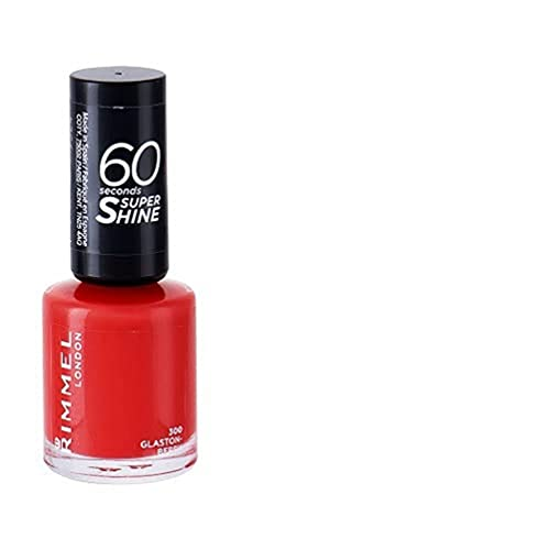 Rimmel London Smalto Unghie 60 Seconds Super Shine - Asciugatura Rapida e Lunga Durata - 300 Glaston-Berry (Corallo) - 8 ml