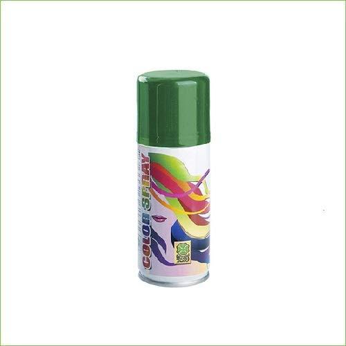 Palucart 1 bomboletta Spray Colore Capelli temporaneo colora i Tuoi Capelli per Feste Party Bambini e Ragazzi lacca Colorata (Verde)